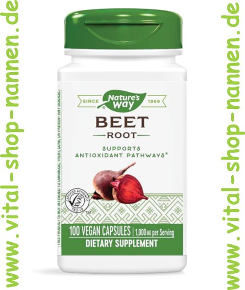 Rote Beete 500 mg, 100 veg. Kapseln von Nature´s Way
