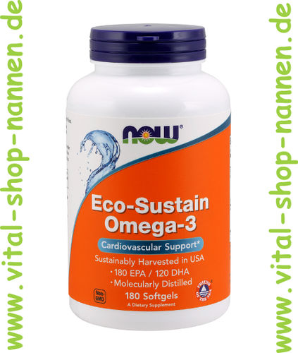 Omega-3,Eco-Sustain Omega-3,1000 mg,180 Softgels