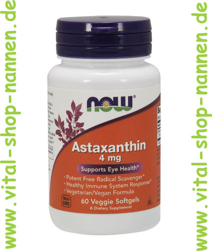 Astaxanthin, 4 mg, 60 vegetarische Softgels