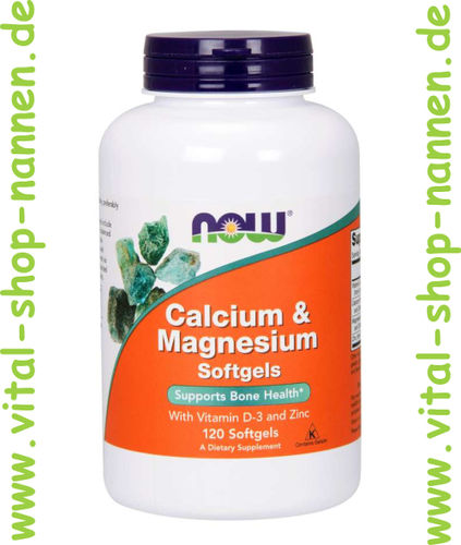 Calcium & Magnesium + Vitamin D-3 u. Zink 120 Softgels