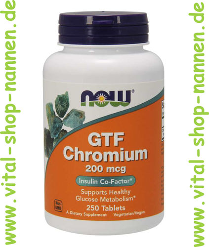 GTF Chromium,200 mcg, 250 Tabletten